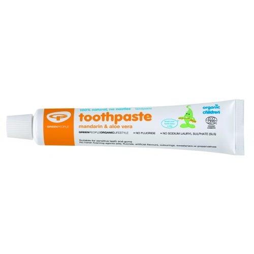 Pasta de dinti naturala pentru bebelusi copii Mandarine 50ml - Green People