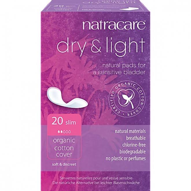 Absorbante light pentru incontinență urinară naturale bumbac organic 20 buc Natracare