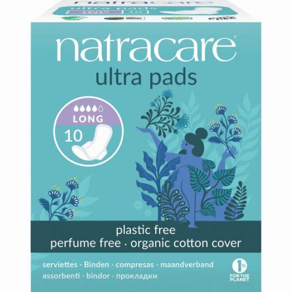 Absorbante lungi (de noapte) naturale bumbac organic 10 buc Natracare