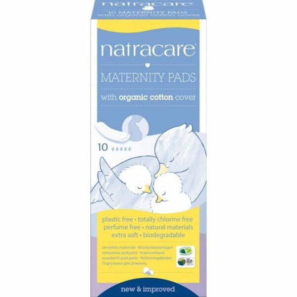 Absorbante naturale pentru lehuzie bumbac organic 10 buc Natracare