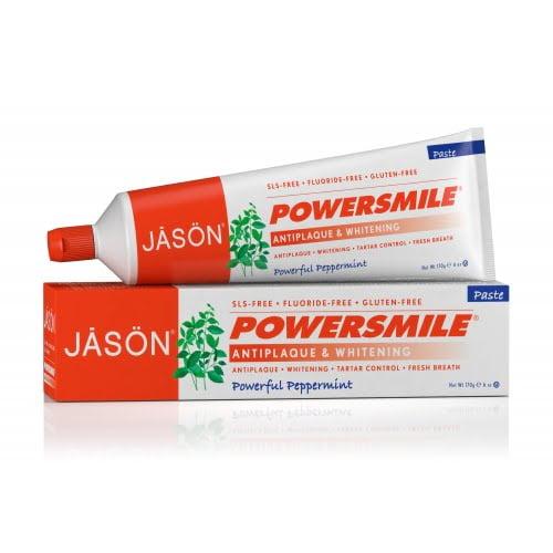 Pasta de dinti fara fluor, pentru albirea dintilor Power Smile 170g Jason