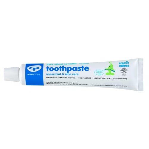 Pasta de dinti pentru copii bebelusi cu menta si aloe vera organica Green People