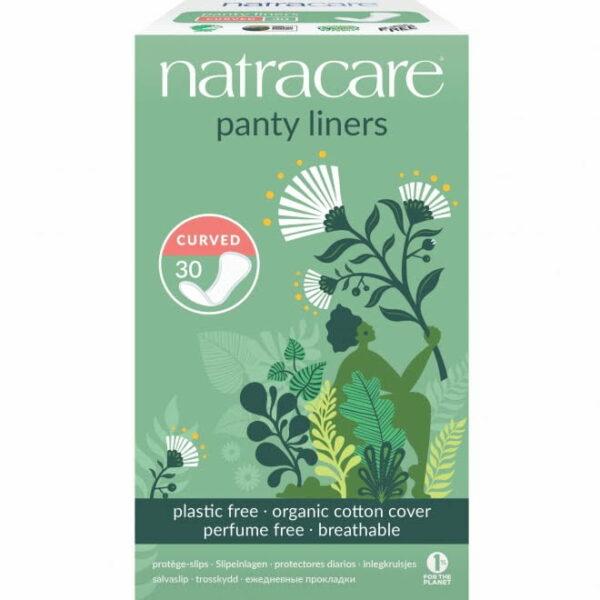 Protej slip curved - curbat natural bumbac organic 30 buc Natracare
