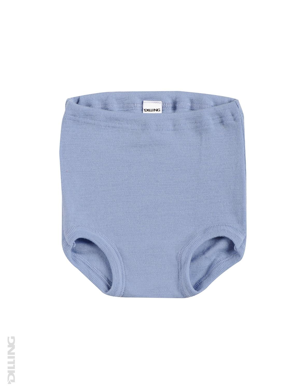 Chiloti albastri din lana merinos organica Dilling Underwear