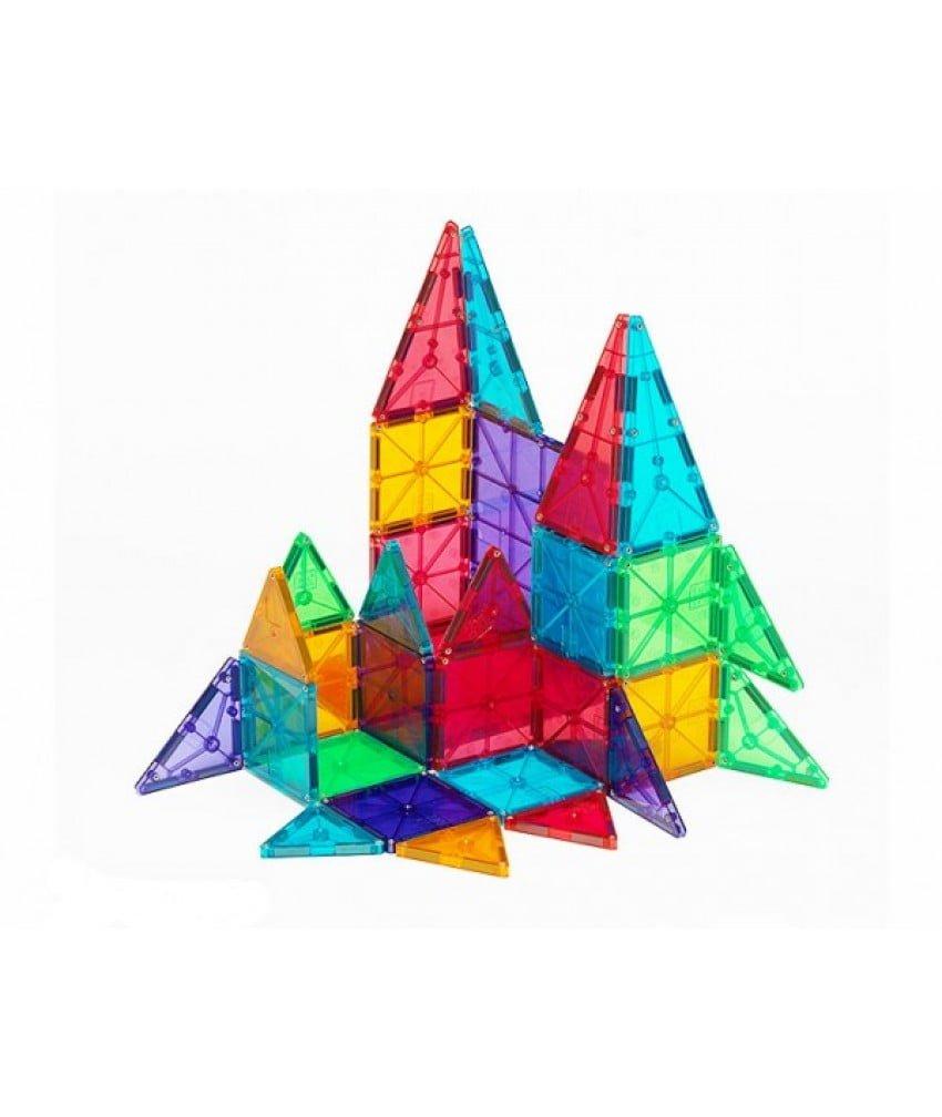 Magna-Tiles Set 32 piese magnetice de construcțte transparente colorate 2