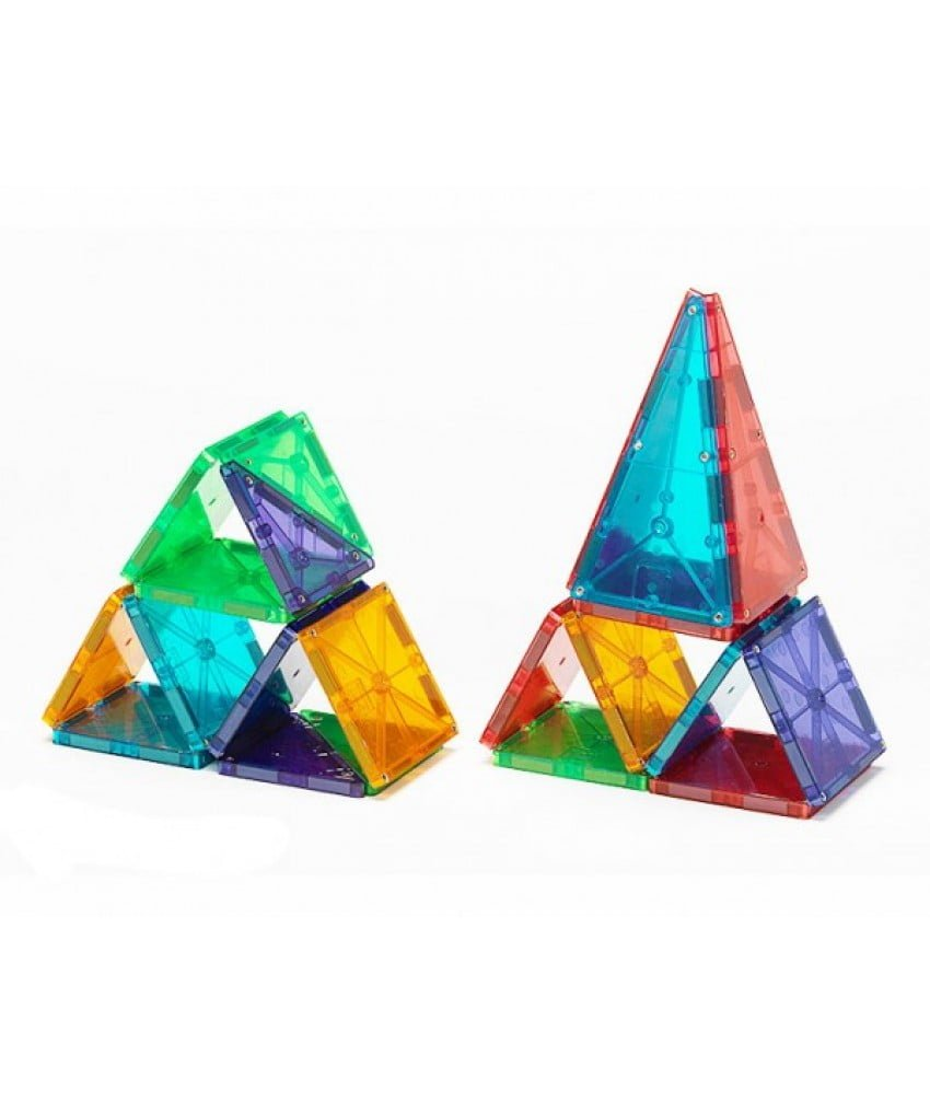 Magna-Tiles Set 32 piese magnetice de construcțte transparente colorate 3
