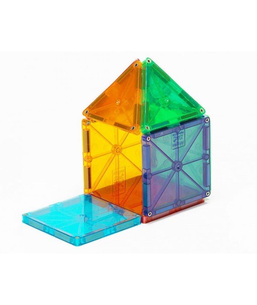 Magna-Tiles Set 32 piese magnetice de construcțte transparente colorate 4