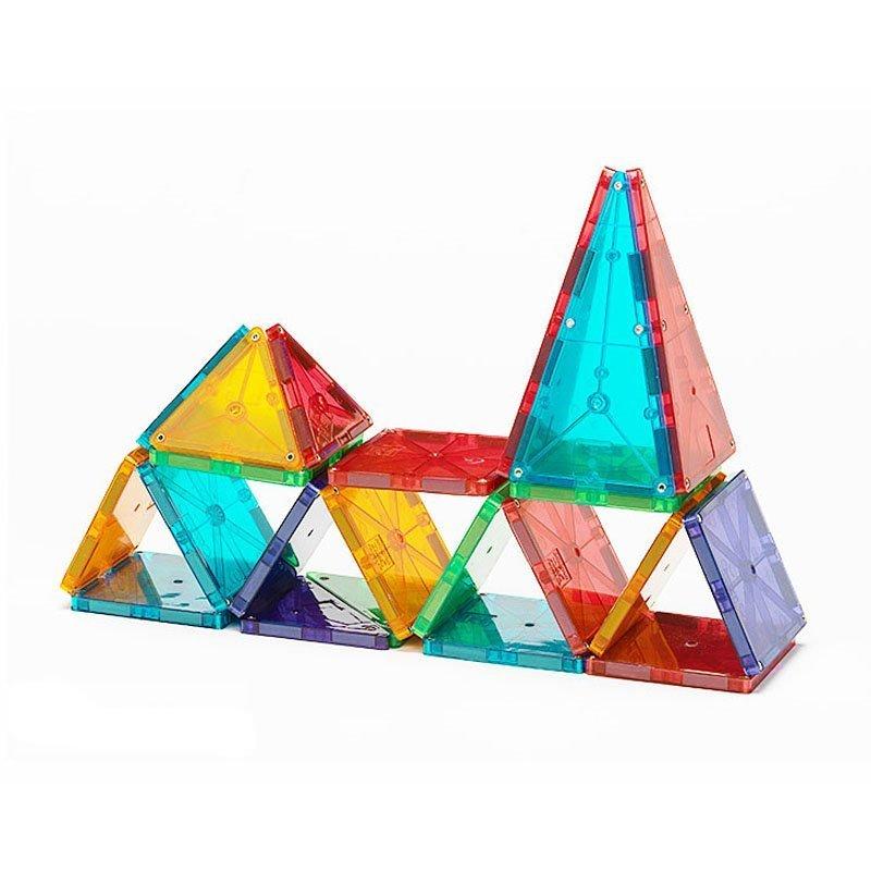 Magna-Tiles Set 32 piese magnetice de constructie transparente colorate ok 2
