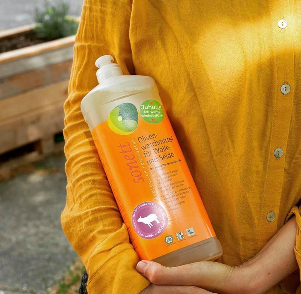 Detergent ecologic lichid pentru lână şi mătase 1L Sonett