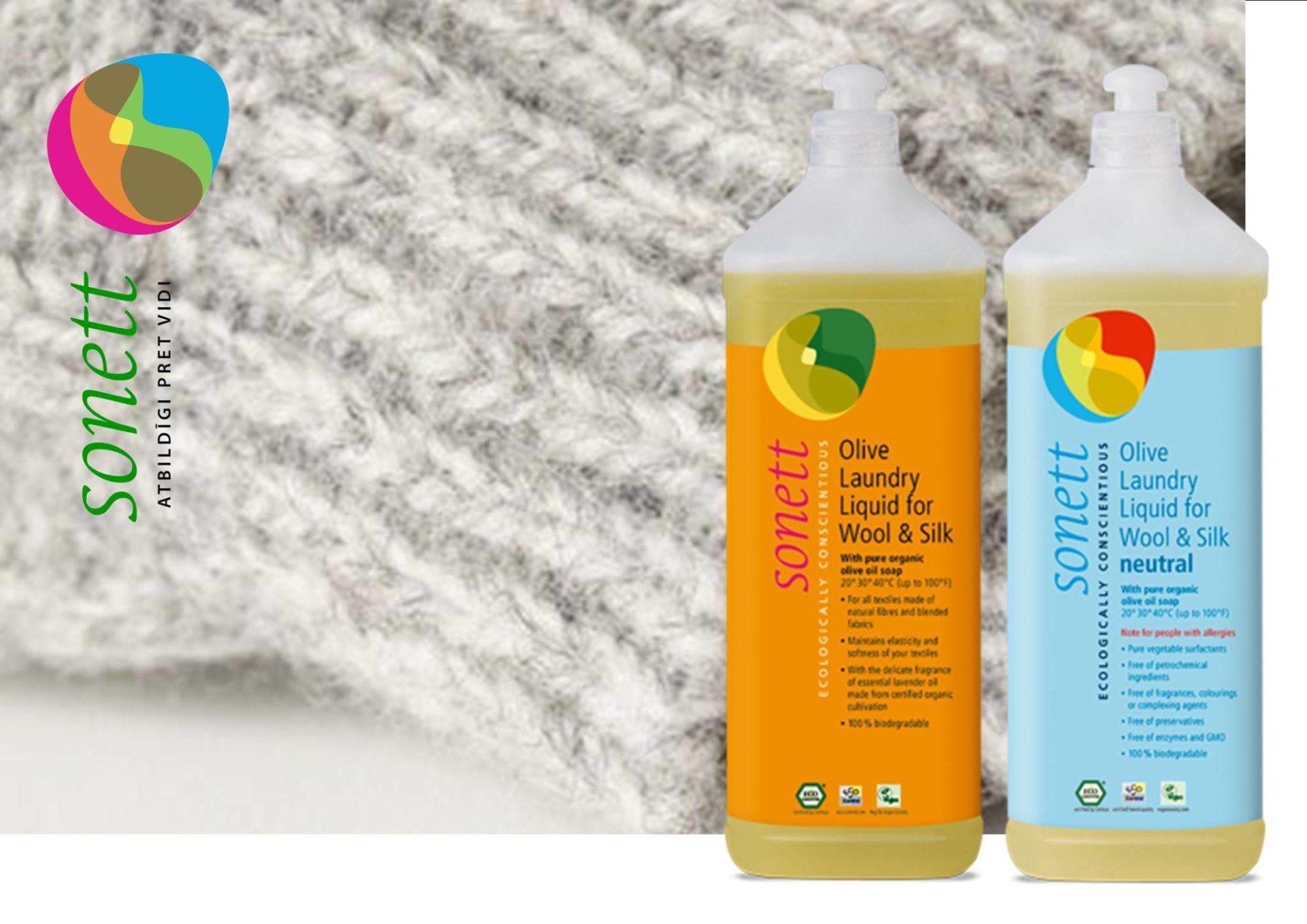 Detergent ecologic lichid pentru lână şi mătase neutru 1L Sonett 2