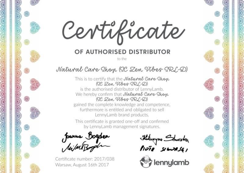 Lenny Lamb Partner Certificate Natural Care Shop