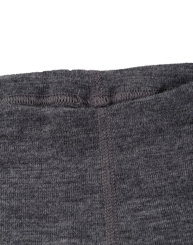 Pantaloni colanţi gri închis din lână merinos organică pentru bebeluşi Dilling 2