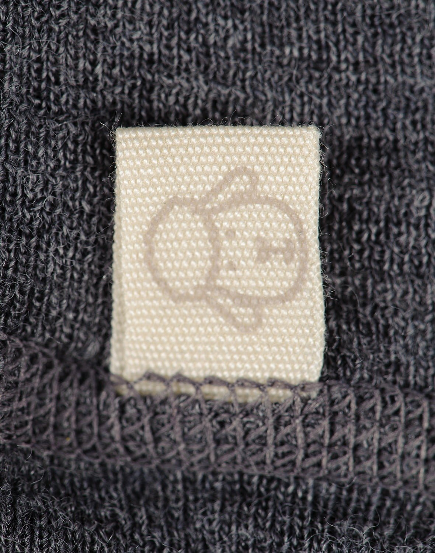 Pantaloni colanţi gri închis din lână merinos organică pentru bebeluşi Dilling 4