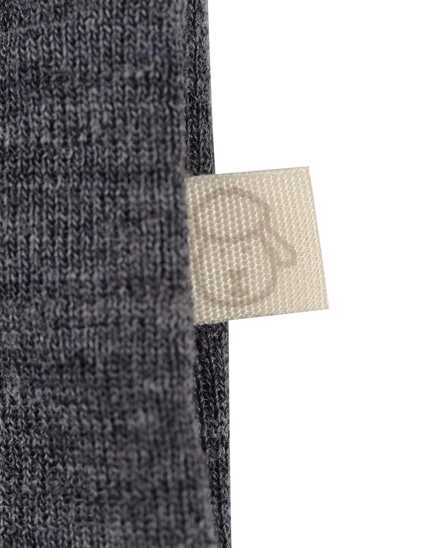 Salopetă – pijama overall gri închis din lână merinos organică pentru bebeluși Dilling 3