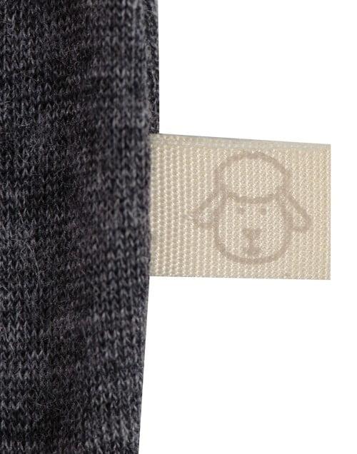 Body cu maneca lunga gri inchis din lana merinos organica pentru bebelusi Dilling 4
