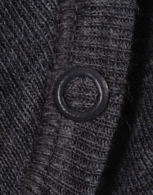 Body cu maneca lunga gri inchis din lana merinos organica pentru bebelusi Dilling 5