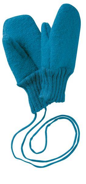 Mănuşi din lână merinos boiled wool blue Disana