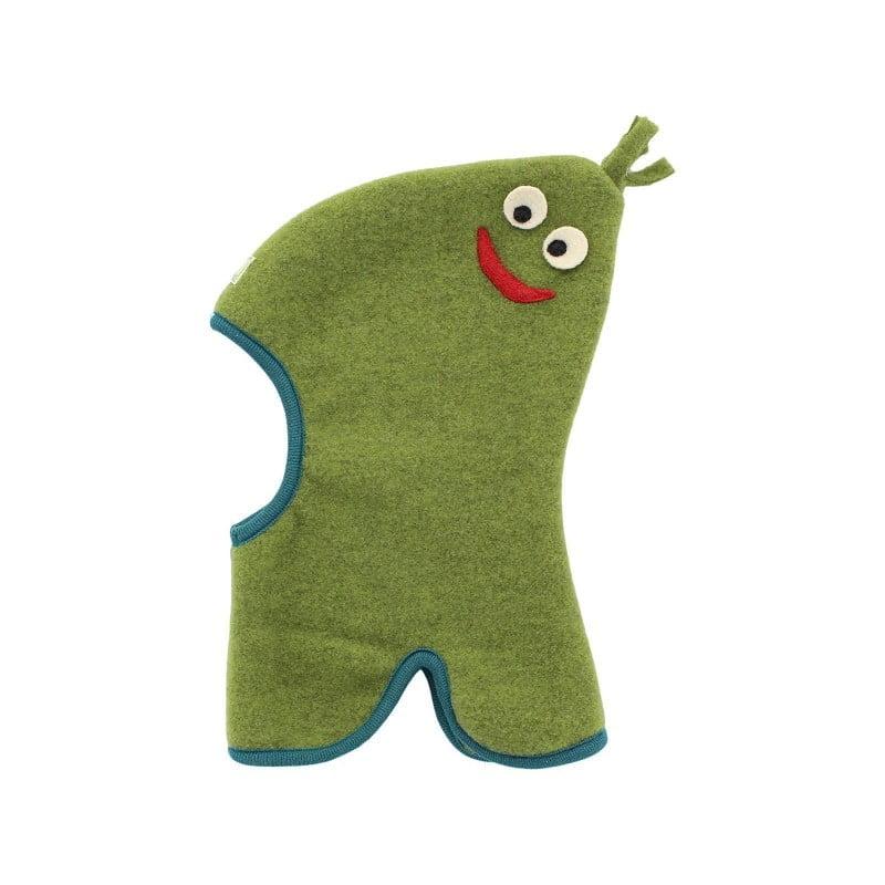 Cagula din lana merinos fleece organica verde Pickapooh Smile