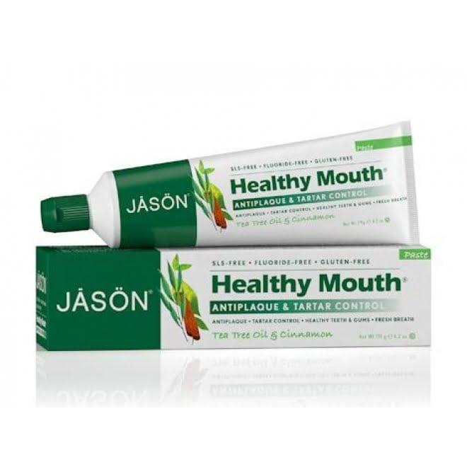 Pastă de dinți Healthy Mouth contra gingiilor iritate, a plăcii şi tartrului 120gr Jason