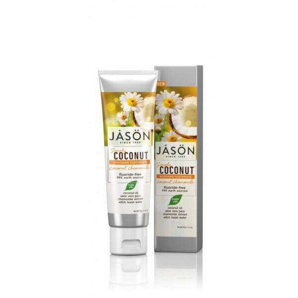 Pastă de dinți cu cocos şi muşeţel pentru dinţi sensibili 119gr Jason