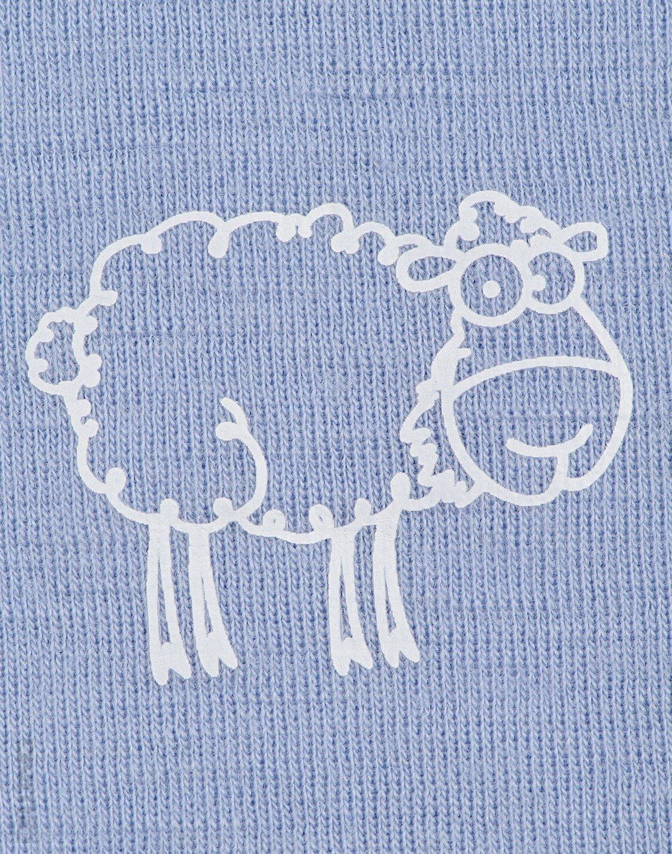 Maiou albastru din lana merinos organica pentru copii Dilling 2