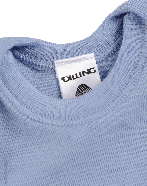 Maiou albastru din lana merinos organica pentru copii Dilling 3