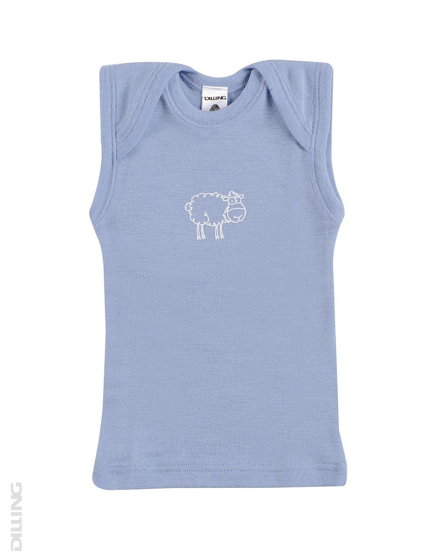 Maiou albastru din lana merinos organica pentru copii Dilling