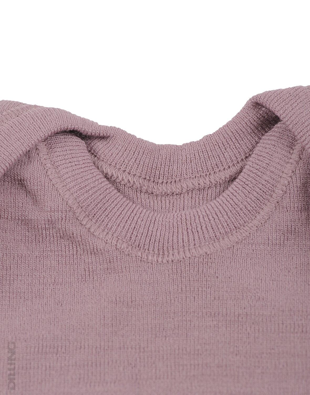 Maiou bordeaux din lana merinos organica pentru copii Dilling 3