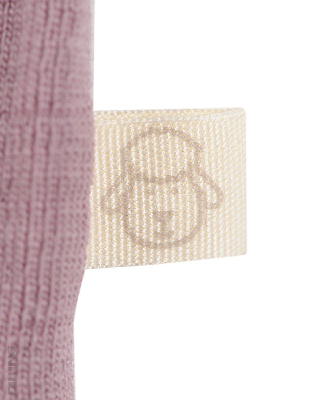 Maiou bordeaux din lana merinos organica pentru copii Dilling 4