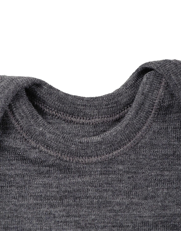 Maiou gri inchis din lana merinos organica pentru copii Dilling 3