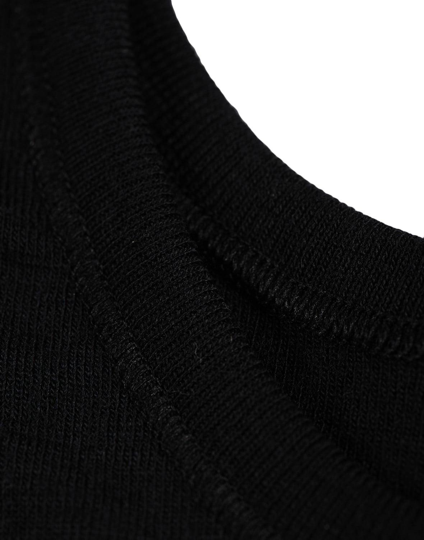 Maiou negru din lana merinos organica pentru copii Dilling 3