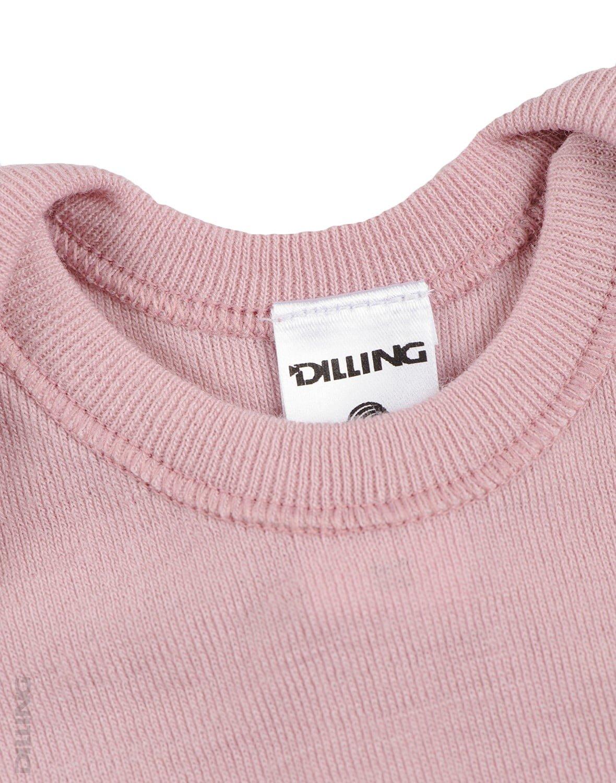 Maoiu cu maneca scurta roz din lana merinos organica pentru copii Dilling 2