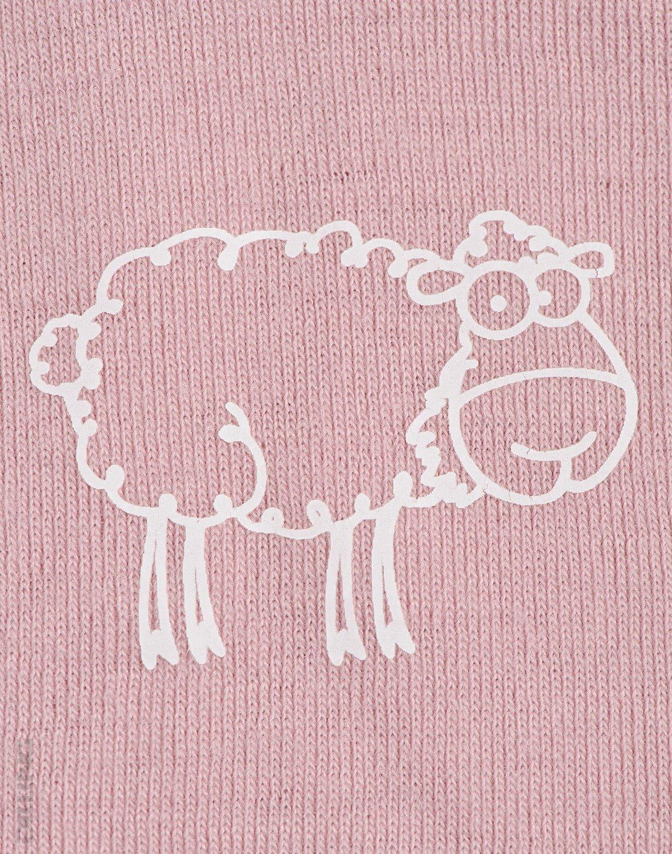 Maoiu cu maneca scurta roz din lana merinos organica pentru copii Dilling 3