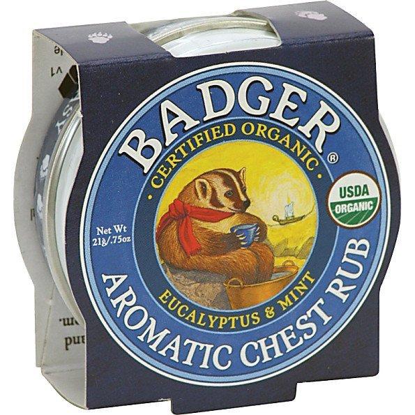 Mini balsam aromatic pentru desfundarea nasului si respiratie regulata 21g Chest Rub Badger