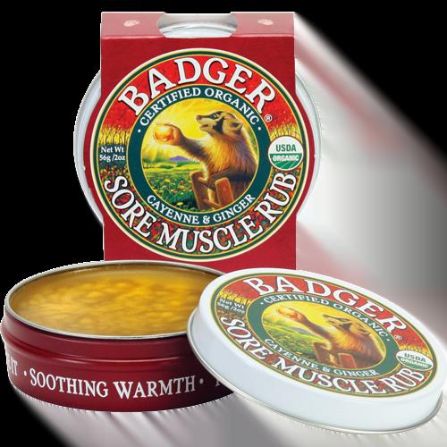 Mini balsam masaj dureri musculare cu ardei cayenne si ghimbir 21g Badger 1