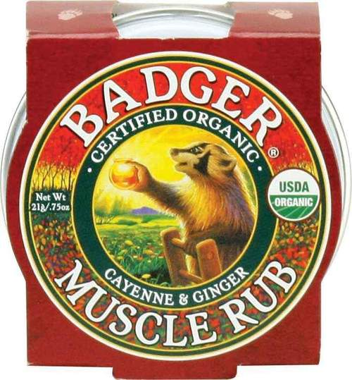 Mini balsam masaj dureri musculare cu ardei cayenne si ghimbir 21g Badger