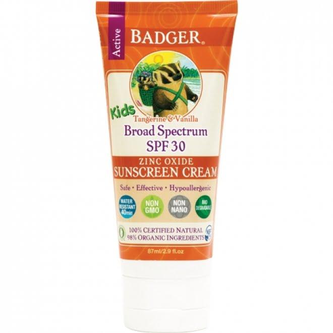 Crema protectie solara cu mandarine si vanilie SPF 30 pentru copii 87 ml Badger