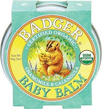 Mini balsam pentru bebeluşi cu gălbenele şi muşeţel 21g Baby Balm Badger 1