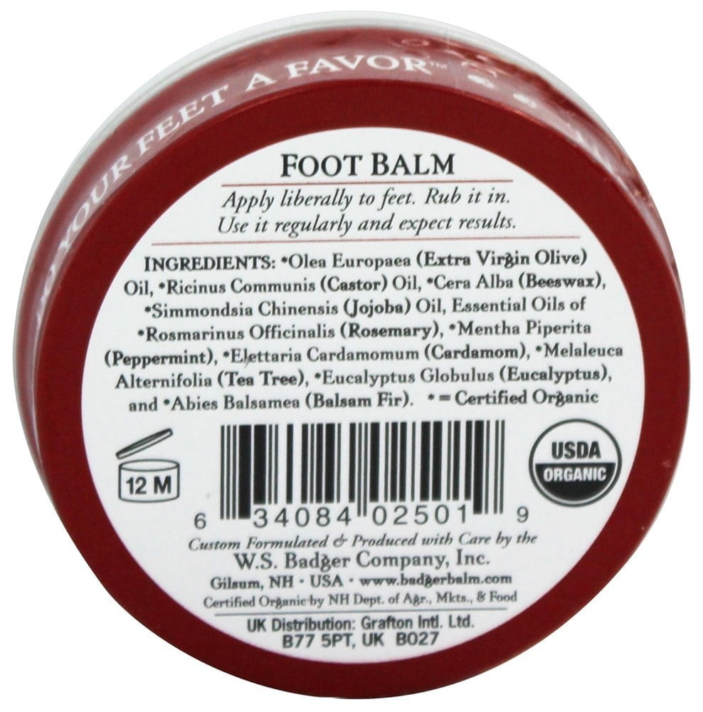 Mini balsam pentru picioare obosite şi călcâie crăpate 21g Foot Balm Badger 2