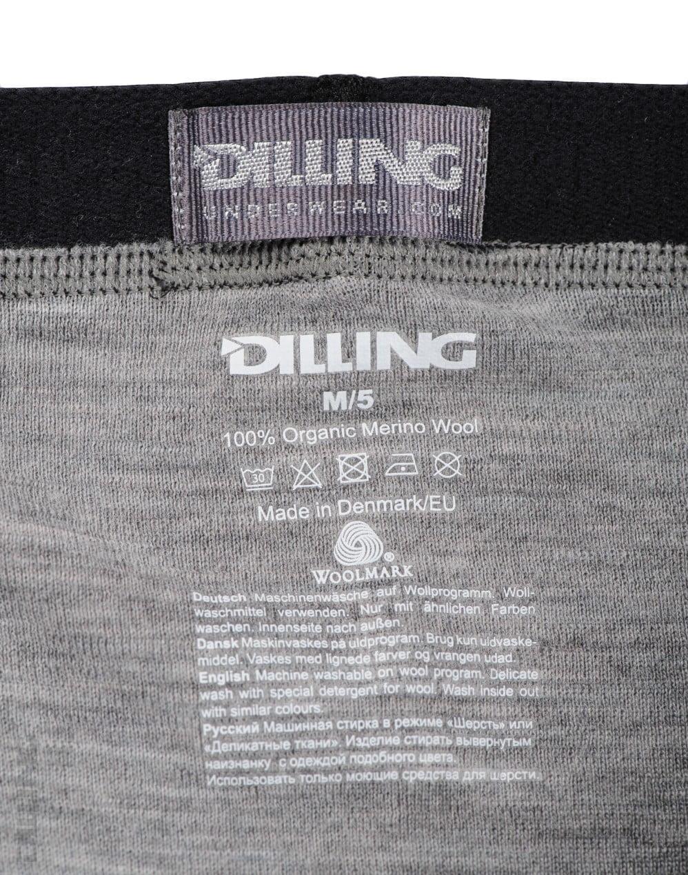 Boxeri gri din lana merinos organica pentru barbati Dilling 3
