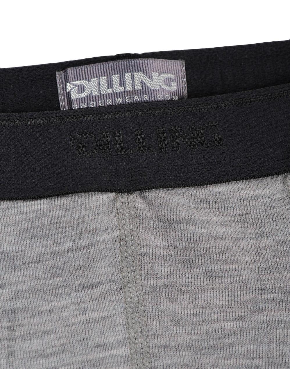 Boxeri gri din lana merinos organica pentru barbati Dilling 5