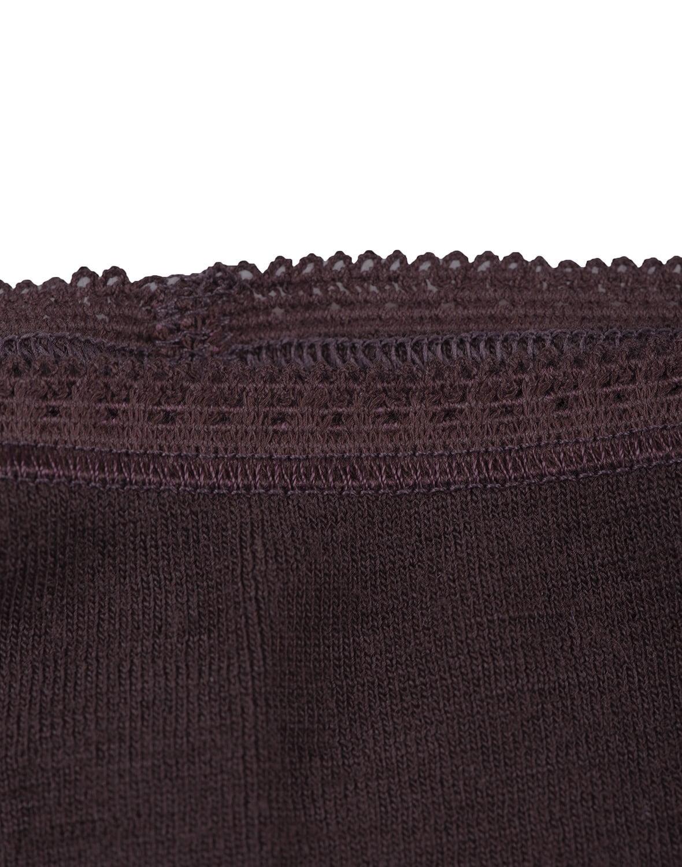 Chiloti midi bordeaux din lana merinos organica pentru femei Dilling 5
