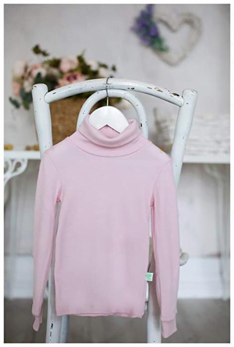Helanc baby pink din lana merinos organica pentru copii Green Rose