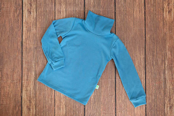 Helanca baby blue din lana merinos organica pentru copii Green Rose