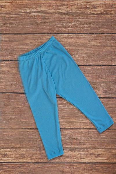 Pantaloni colanti baby blue din lana merinos organica pentru copii Green Rose