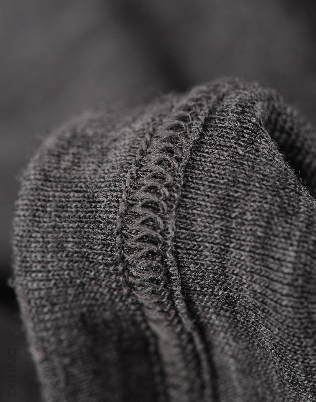 Bluză cu mânecă lungă gri închis din lână merinos organică pentru copii Dilling 1