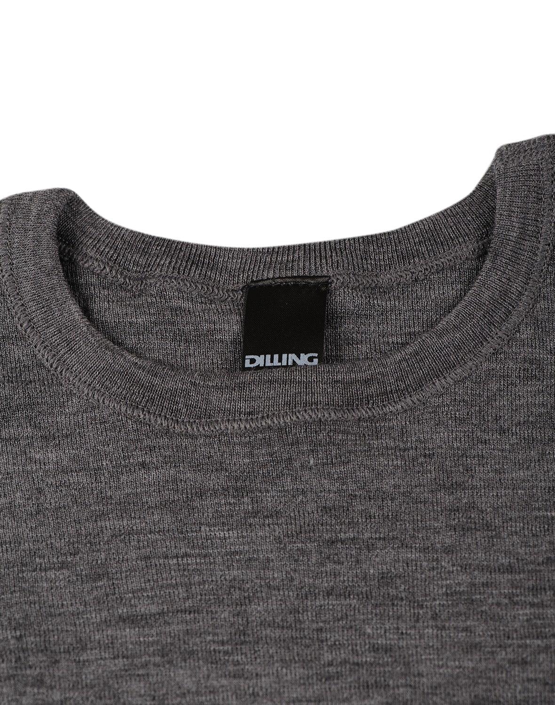 Bluză cu mânecă lungă gri închis din lână merinos organică pentru copii Dilling 2