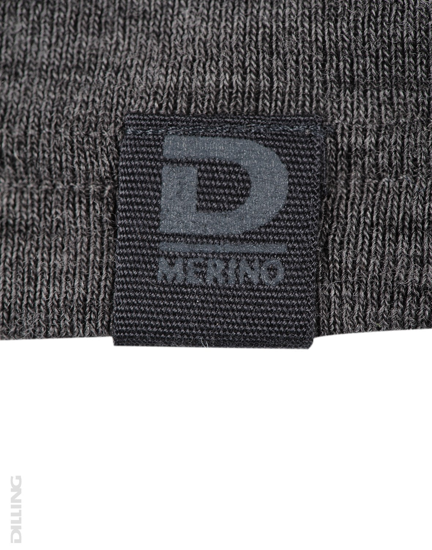 Bluză cu mânecă lungă gri închis din lână merinos organică pentru copii Dilling 3