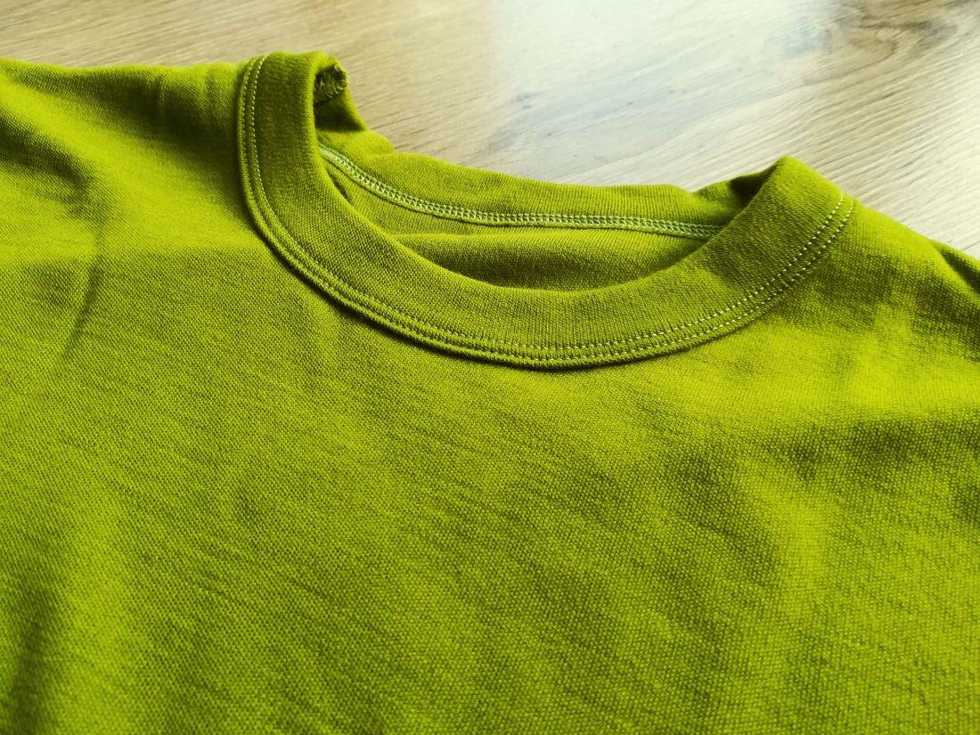 Bluza cu maneca lunga green moss din lana merinos organica pentru femei Green Rose