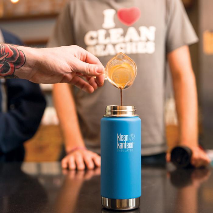 Cana termoizolantă termos cu capac de cafea 473 ml Klean Kanteen